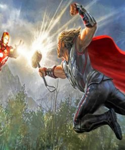 Thor-and-Iron-Man-The-Avengers-Marvel-Movies-paint-by-number