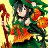 Tsuyu Asui Halloween Paint by numbers