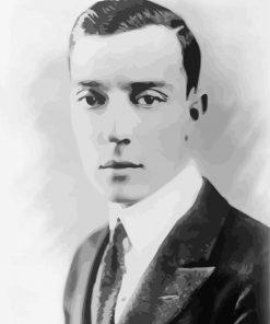 Vintage Buster Keaton Paint by numbers
