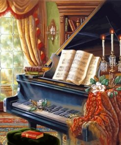 Vintage Piano Paint by numbers