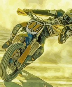Vr46 Valentino Rossi Driver Paint by numbers