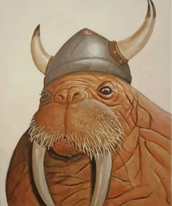 Walrus-viking-paint-by-numbers