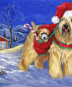 Wheaten Terrier Christmas Paint by numbers