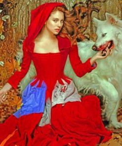 Red Riding Hood And The Wolf paint by numbers