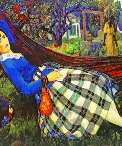 Woman In Hammock Leon Kroll Paint by numbers