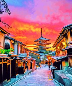 Yasaka Pagoda At Sunset Paint by numbers