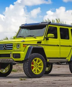 Yellow-Mercedes-Benz-G-Class-paint-by-numbers