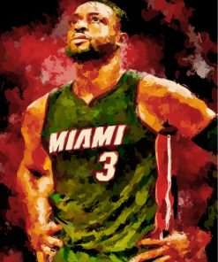 abstract-Miami-Heat-player-paint-by-numbers