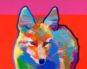 Colorful Coyote Paint by numbers