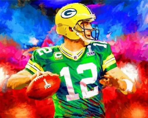 abstract-green-bay-packers-paint-by-numbers