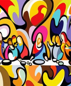 abstract-last-supper-paint-by-number