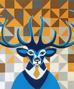 abstract-mr-deer-paint-by-numbers