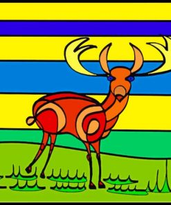 abstract-stag-paint-by-numbers