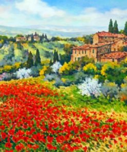 Abstract Tuscan Scene Paint by numbers
