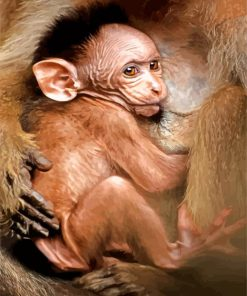 adorable-baby-macaque-paint-by-numbers