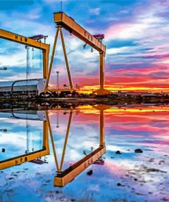 aesthetic-2-cranes-in-Belfast-paint-by-number