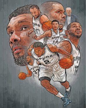 aesthetic-San-Antonio-Spurs-paint-by-numbers