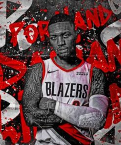 Lillard Damian Basketball Player Paint by numbers