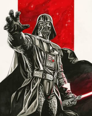 Aesthetic Darth Vader paint by numbers