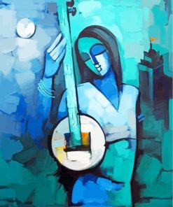aesthetic-indian-woman-paint-by-numbers