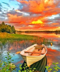 aesthetic-lakeside-boat-paint-by-numbers
