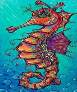 Aesthetic Seahorse Paint by numbers