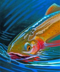 Aesthetic Trout Fish Paint by numbers