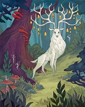 aesthetic-white-stag-paint-by-numbers