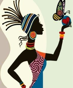 african-woman-and-butterflies-paint-by-numbers