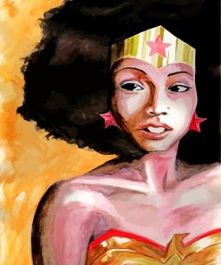 Afro Black Wonder Woman