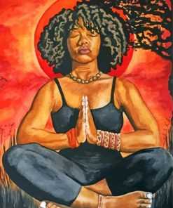 afro-woman-doing-yoga-paint-by-numbers