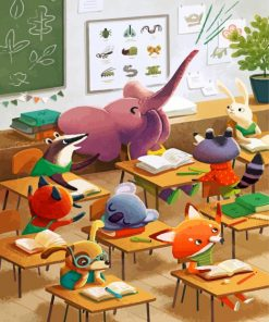 animals-students-paint-by-number