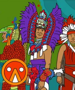 Aztec People Paint by numbers