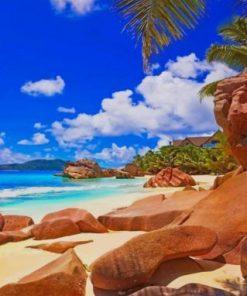 Praslin Island Seychelles Paint by numbers
