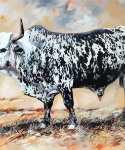 Black And White Nguni Paint by numbers