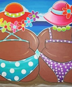 black-women-on-the-beach-paint-by-numbers