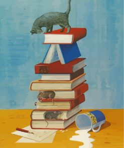 books-with-mice-and-cat-paint-by-numbers