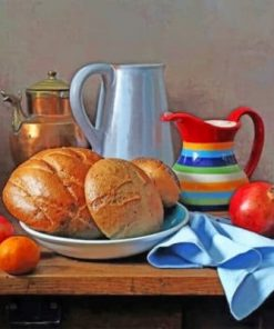 Bread And Fruits Paint by numbers