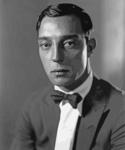 Buster Keaton Movie Star Paint by numbers