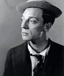 Buster Keaton Portrait Paint by numbers