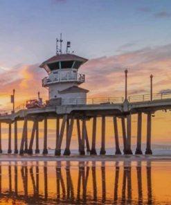 Huntington Beach Pier Paint by numbers