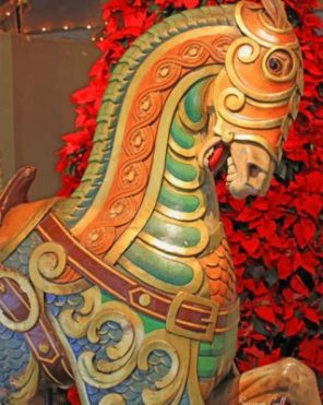 Carousel Horse Paint by numbers
