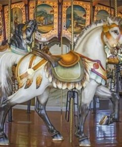 White Carousel Paint by numbers
