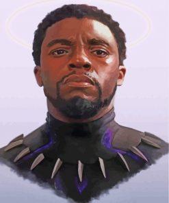 Chadwick Boseman Paint by numbers
