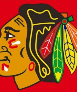 Chicago Blackhawks Logo paint by numbers