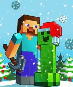 Christmas Minecraft Paint by numbers