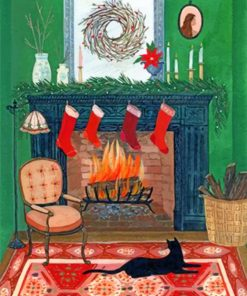 christmas-fireplace-paint-by-number