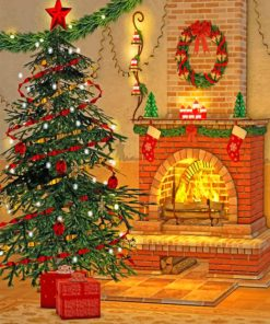 christmas-tree-and-fireplavce-paint-by-numbers