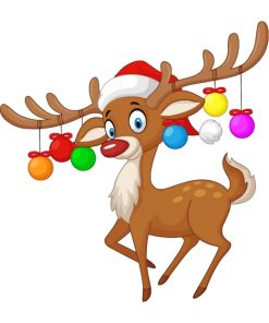 christpas-deer-paint-by-numbers