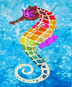 Colorful Seahorse Paint by numbers